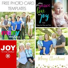 free christmas photo card templates video to customize them