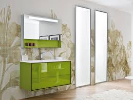 amazing green glossy acrylic freestanding ikea bathroom vanity