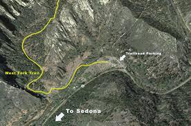 Sedona Map West Fork Trail Sedona Arizona Arizona Trekker