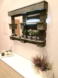 bathroom mirror light pull cord switch pallet shelf pallets vanity