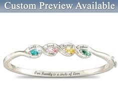 bracelets with birthstones family is a circle of personalized birthstones bracelet