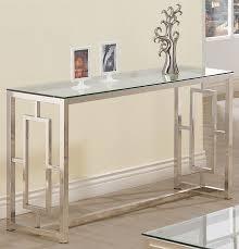 coaster company satin nickel coffee table 703739 satin nickel sofa table from coaster 703739 coleman furniture