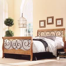 Metal Sleigh Bed Fashion Bed Wood And Metal Sleigh Bed Reviews Wayfair