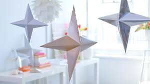 video metallic 3 d paper stars martha stewart