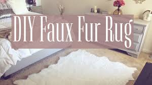 Diy Area Rug From Fabric Diy Faux Fur Rug