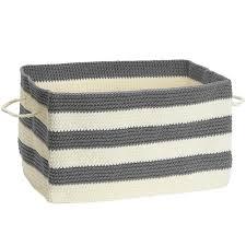 Add decorative storage with the Fabric Storage Bin gray