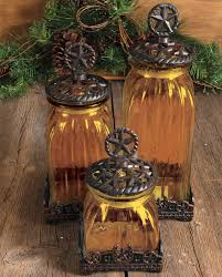 country kitchen canister sets silverado glass star canister set 3 piece kitchenware home