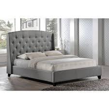 Tufted King Bed Frame Gray Upholstered King Bed Large Office Desks Chairs Seats 7em 17