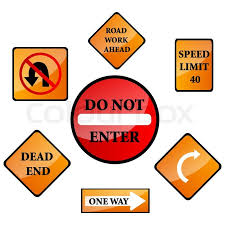 death ahead halloween clipart vector illustration of different road signs on isolated background