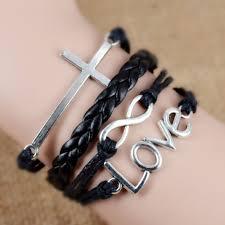 vintage infinity bracelet images Fashion vintage infinity anchor hook artificial leather bracelet jpg