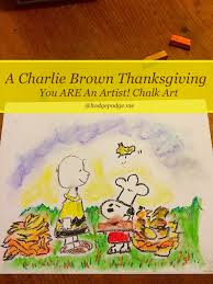 charlie brown thanksgiving show charlie brown thanksgiving chalk art hodgepodge
