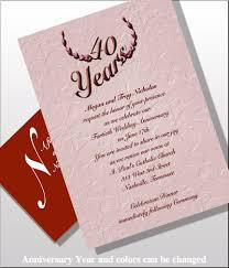 40th anniversary invitations 40th anniversary invitations item be1540