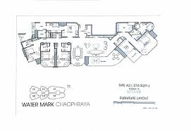 Watermark Floor Plan 4 Bedroom For Sale Furnished Watermark Chaophraya River