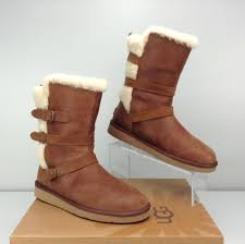 womens boots size 11 australia ugg australia becket chestnut brown leather boots s size 11