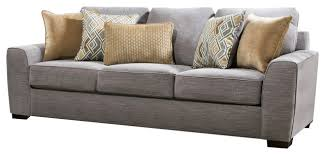 Simmons Upholstery Simmons Upholstery Pompeii Silver Sofa Transitional Sofas By