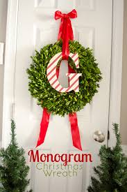 monogram christmas craftaholics anonymous monogram christmas wreath tutorial