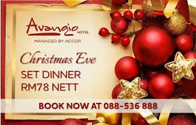 this festive season at avangio hotel christmas eve dinner set