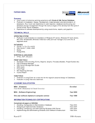 Best Resume Templates In India by Sql Server Dba Sample Resumes 19 Sample Resume For Server