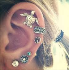 awesome cartilage earrings cool cartilage earrings cartilage earrings piercings and turtle