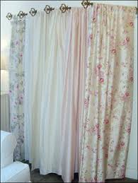 Shabby Chic Curtains Cottage Shabby Cottage White Chenille Chic Pink Aqua Blue Patchwork