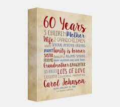 60 year birthday gift birthday gift for 60th birthday 60 years gift for