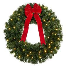 battery operated wreath brylanehome cordless battery operated led 30