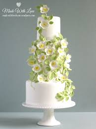 wedding cake green and trellis wedding cake made with by me