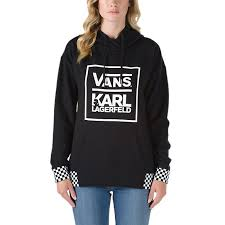 vans x karl lagerfeld pullover hoodie shop womens sweatshirts at