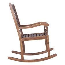 Patio Rocking Chair Loon Peak Imene Solid Acacia Wood Patio Rocking Chair Reviews