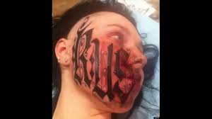 face tattoos designs youtube