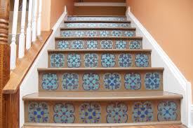stair riser stencil with tuscan tile design heartworkorg com