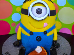 thanksgiving m my first minion cake when i asked my kids what cake they wanted