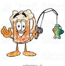 sports clip art of a frothing beer mug mascot cartoon character
