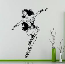 online get cheap marvel wall decor aliexpress com alibaba group wonder woman poster sticker wall decor dc marvel comics superhero vinyl decal dorm home interior creative removable mural
