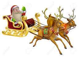 clipart santa claus riding a horse clipground