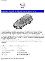 volvo v70 2002 user manual airbag seat belt