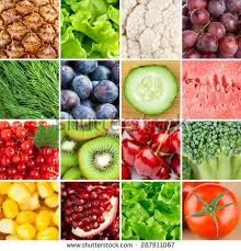 healthy food background collection different color stock photo