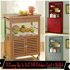 jcpenney save on mandalay bamboo kitchen cart u0026 lindale buffet