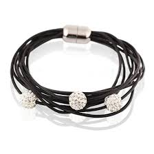 stainless steel bracelet clasp images Stainless steel clasp fashion leather charm bracelet jpg