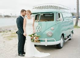 volkswagen bus 2016 coastal wedding inspiration with a vintage vw bus green wedding
