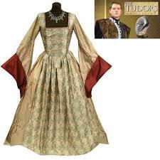Tudor Halloween Costumes Anne Boleyn Gown Queen England Dress Costume Ideas