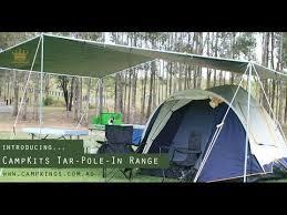 easiest tarp set up ckings australia tar pole in range