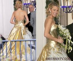 lively wedding dress flare white with gold gown lively gossip wedding