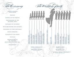 Program Template For Wedding 8 Best Images Of Silhouette Wedding Programs Template Wedding