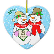 anniversary christmas ornament 2nd anniversary ornaments keepsake ornaments zazzle