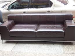 ikea leather sofa uhuru furniture collectibles ikea espresso leather sofa sold