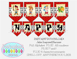 jake and the neverland pirates birthday invites jake inspired party banner bunting digital party supplies