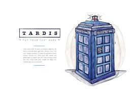 free tardis police call box watercolor style download free