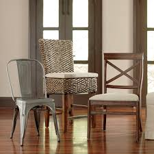Seagrass Armchair Design Ideas Dining Room Astonishing Set Of Black Stained Natural Wooden