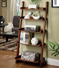 Ladder Bookcases Ikea by Brown Ladder Bookshelf Amiphi Info